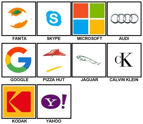 100 Pics Logos Level 21-30 Answers