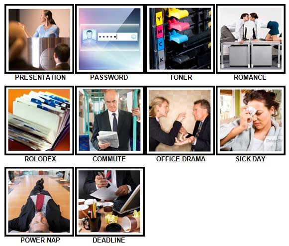 100 Pics Office Level 81-90 Answers