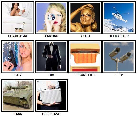 100 Pics Secret Agent Answers 1-10