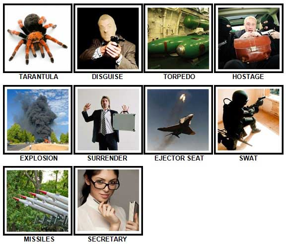 100 Pics Secret Agent Answers 21-30