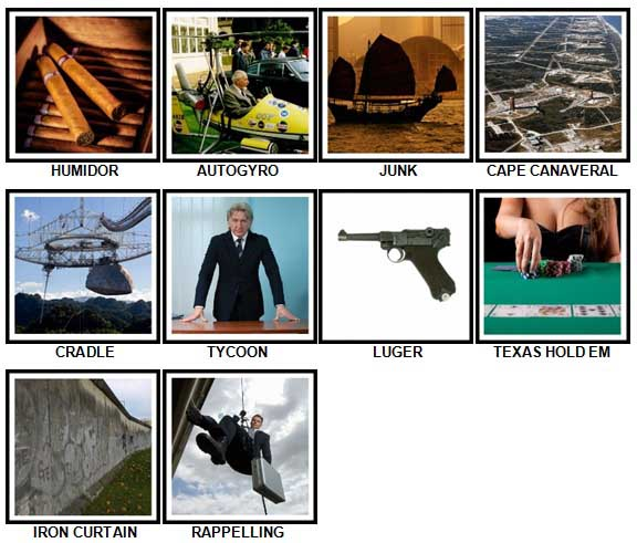 100 Pics Secret Agent Answers 81-90
