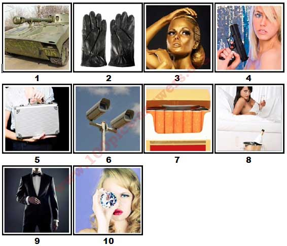 100 Pics Secret Agent Level 1 Answers
