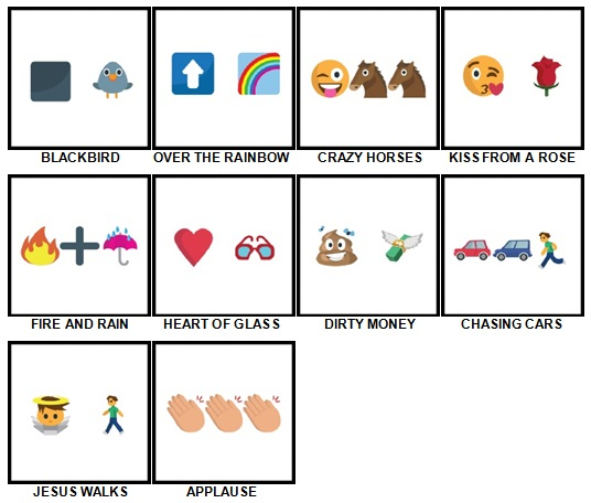 100 Pics Song Puzzles Answers 41-50