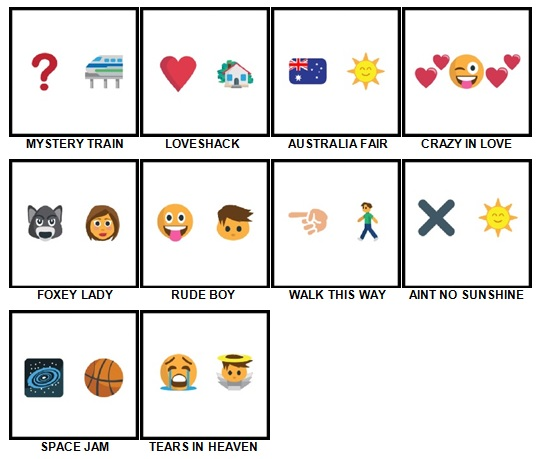 100 Pics Song Puzzles Answers 51-60