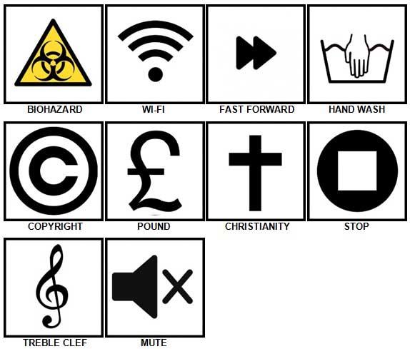 100 Pics Symbols Level 21-30 Answers