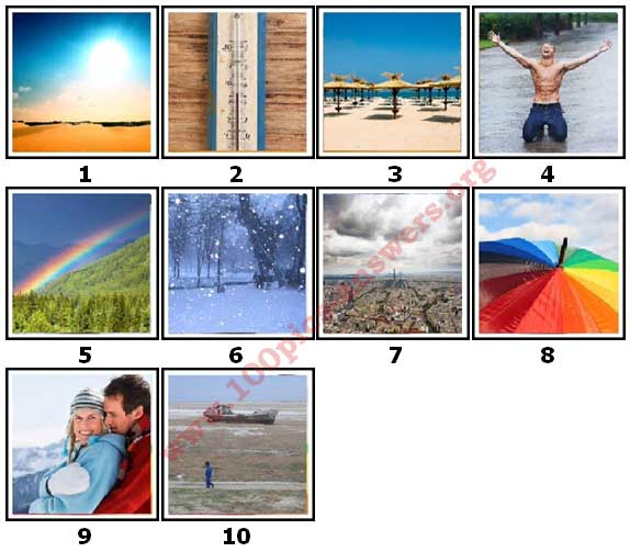 100 Pics Weather Level 1 Answers