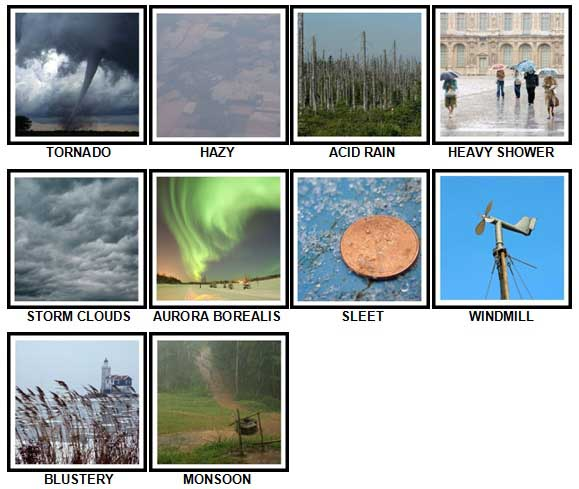 100 Pics Weather Level 41-50 Answers
