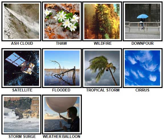 100 Pics Weather Level 61-70 Answers