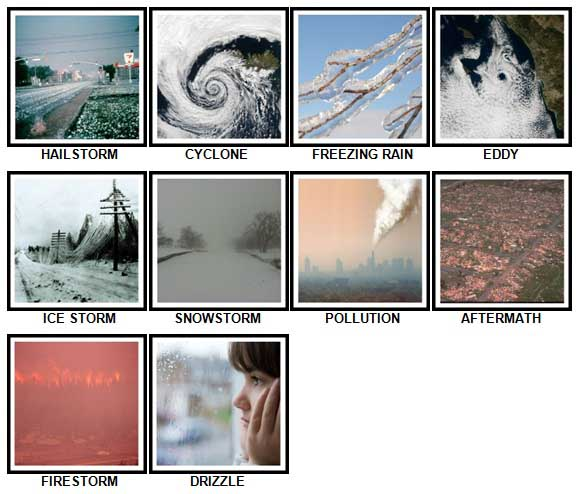 100 Pics Weather Level 71-80 Answers