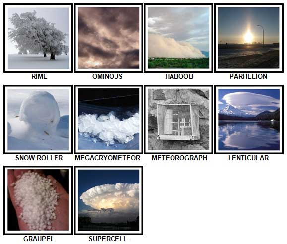 100 Pics Weather Level 91-100 Answers