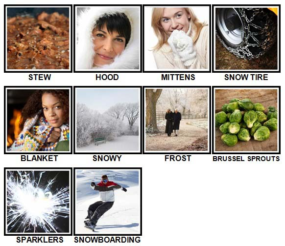 100 Pics Winter Level 21-30 Answers