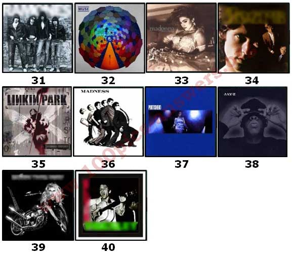 100 Pics Album Covers Answers Level 31