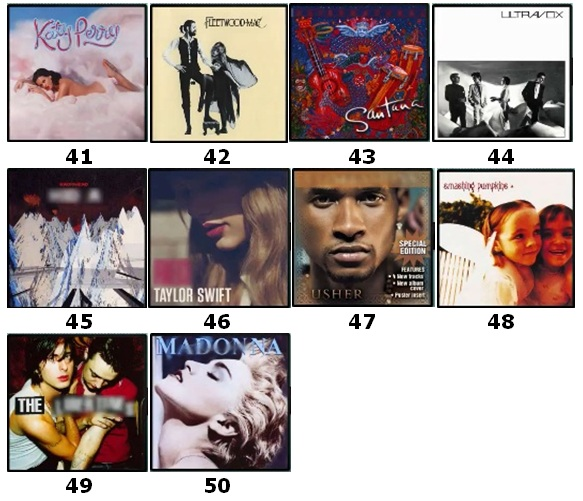 100 Pics Album Covers Answers Level 41