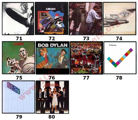100 Pics Album Covers Answers Level 71