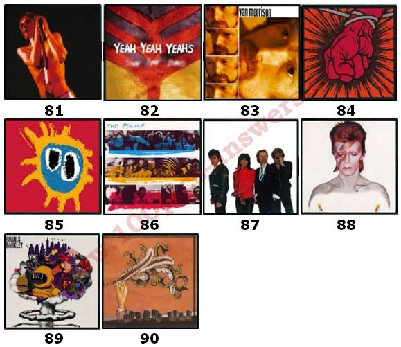 100 Pics Album Covers Answers Level 81