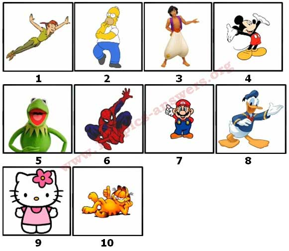 100 Pics Cartoon 2 Level 1 Answers