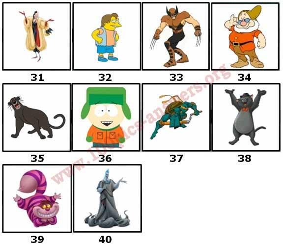 100 Pics Cartoon 2 Level 31 Answers