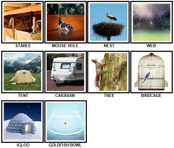 100 Pics Dwellings Answers 1-10