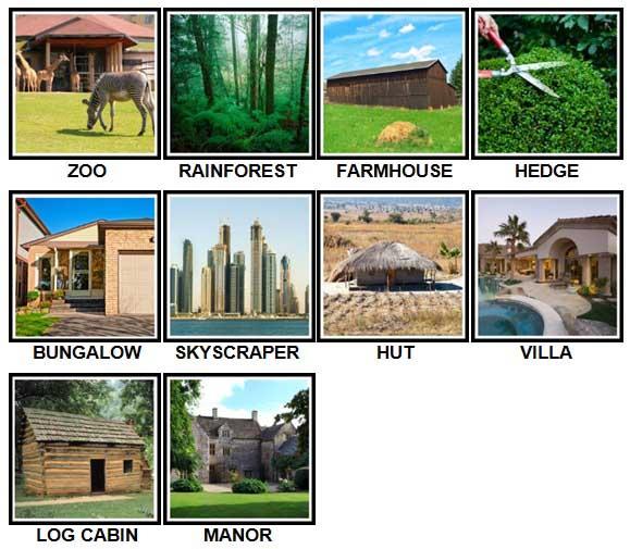 100 Pics Dwellings Level 41-50 Answers