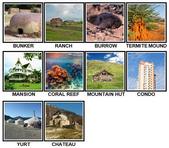 100 Pics Dwellings Level 71-80 Answers