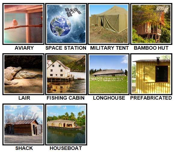 100 Pics Dwellings Level 81-90 Answers