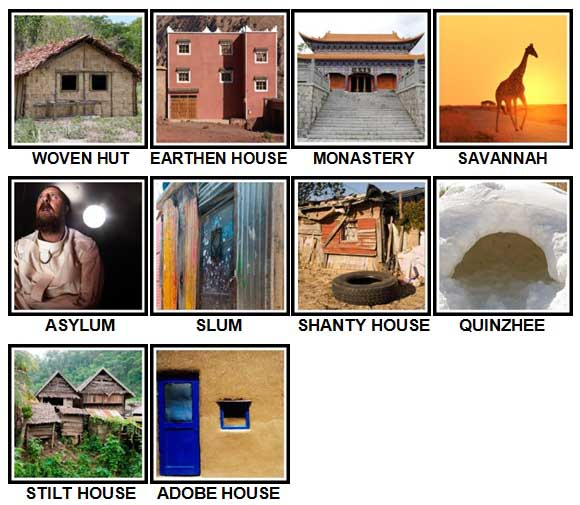 100 Pics Dwellings Level 91-100 Answers