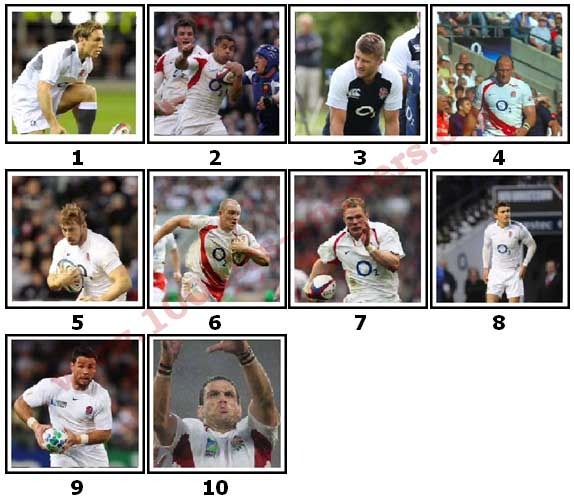 100 Pics England Rugby Level 1 Answers