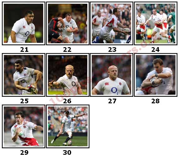100 Pics England Rugby Level 21 Answers
