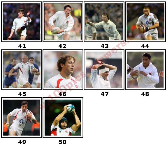 100 Pics England Rugby Level 41 Answers