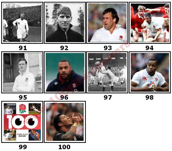 100 Pics England Rugby Level 91 Answers