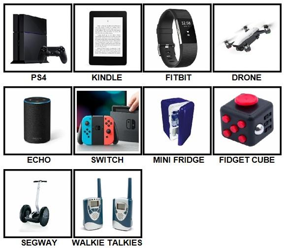 100 Pics Gadgets Level 1-10