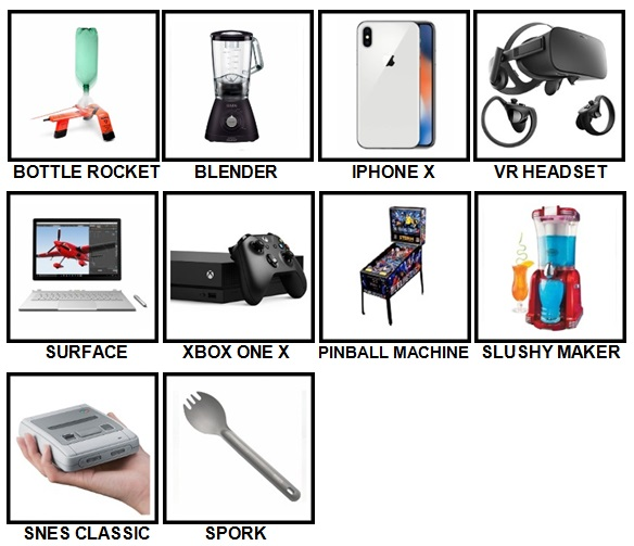 100 Pics Gadgets Level 11-20 Answers
