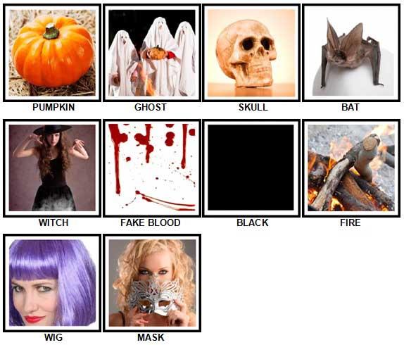 100 Pics Halloween Answers 1-10