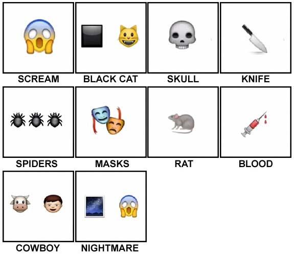 100 Pics Halloween Emoji Level 1-10 Answers