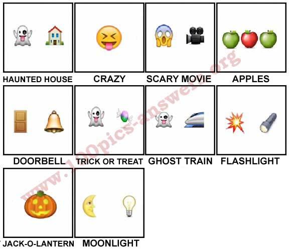 100 Pics Halloween Emoji Level 11-20 Answers