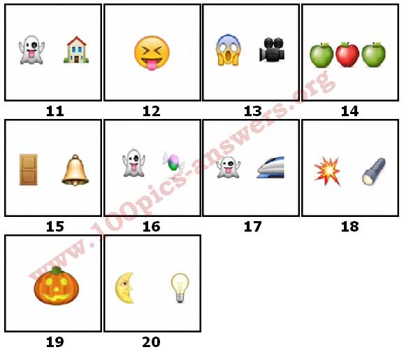 100 Pics Halloween Emoji Level 11 Answers