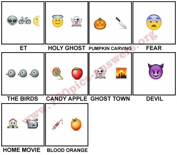 100 Pics Halloween Emoji Level 31-40 Answers