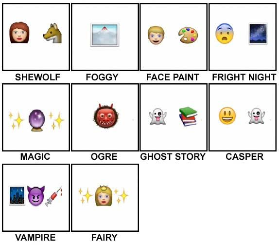 100 Pics Halloween Emoji Level 41-50 Answers