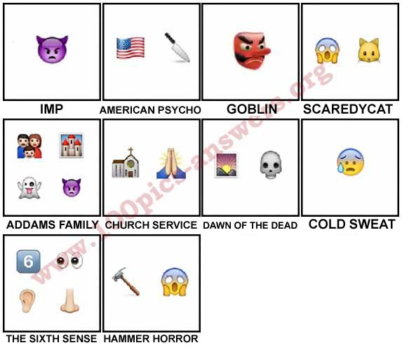 100 Pics Halloween Emoji Level 51-60 Answers