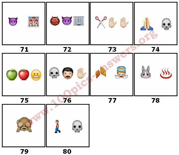 100 Pics Halloween Emoji Level 71 Answers