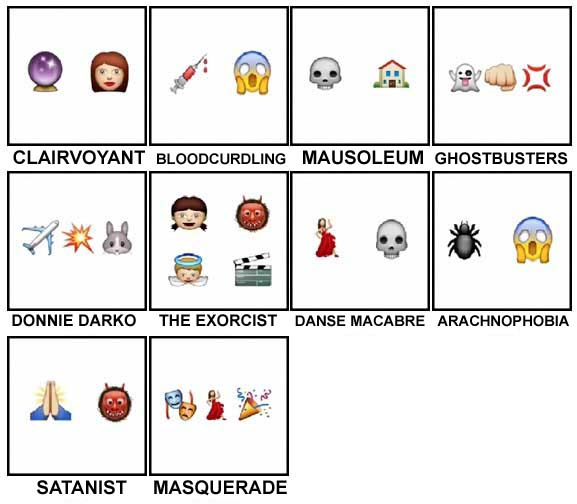100 Pics Halloween Emoji Level 91-100 Answers