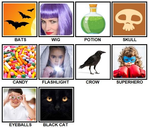 100 Pics Halloween Level 11-20 Answers