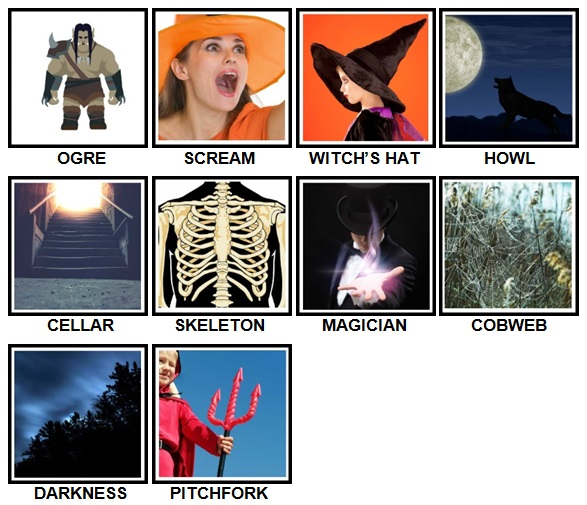 100 Pics Halloween Level 51-60 Answers