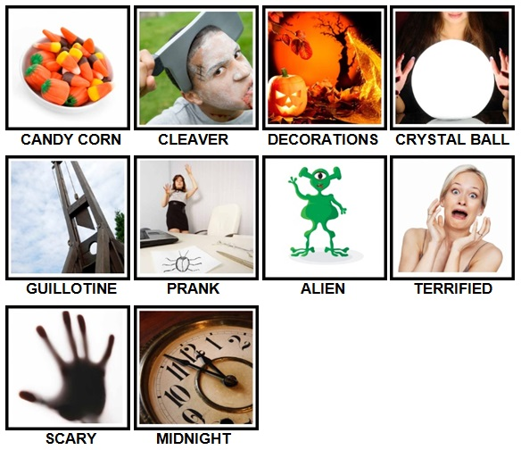 100 Pics Halloween Level 71-80 Answers