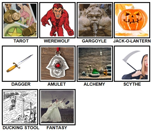 100 Pics Halloween Level 81-90 Answers
