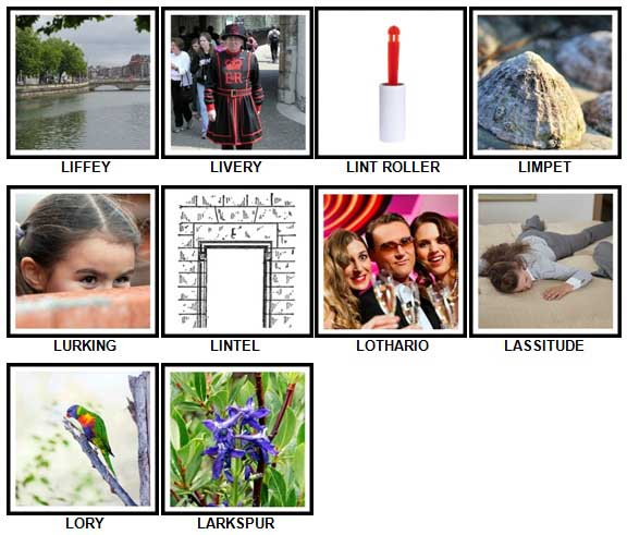 100 Pics L is For Level 81-90 Answers