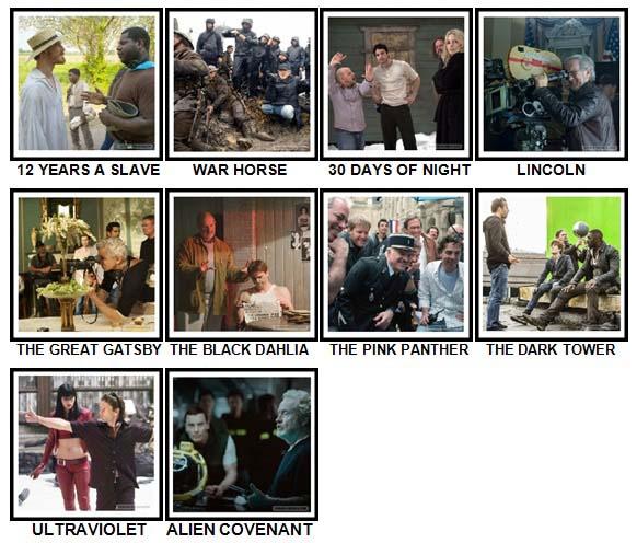 100 Pics Movie Sets Level 91-100 Answers