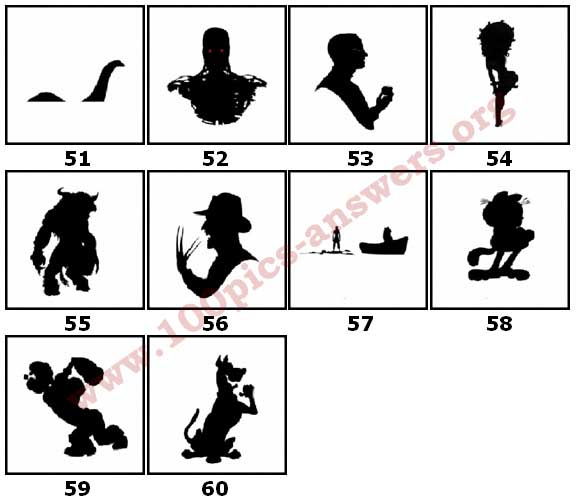 100 Pics Silhouettes Answers Level 51