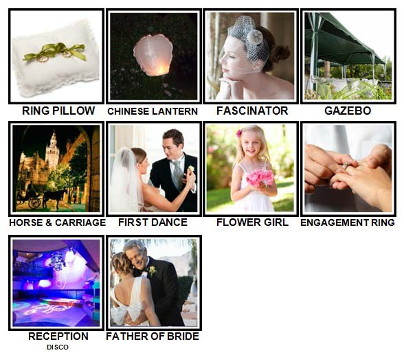 100 Pics Weddings Level 71-80 Answers