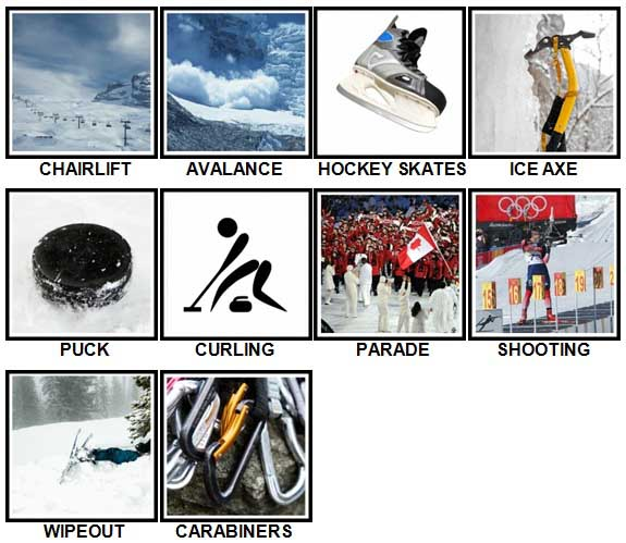 100 Pics Winter Sports Level 21-30 Answers